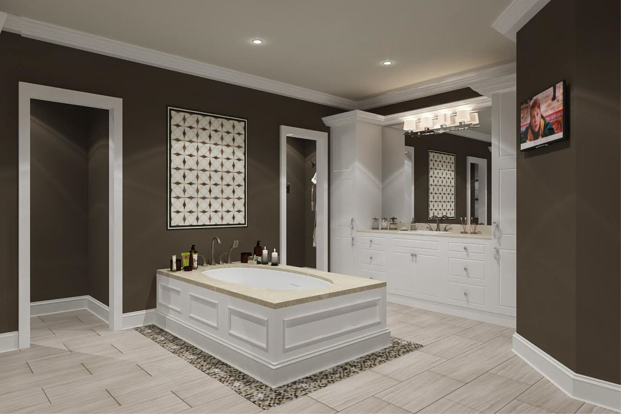 A large, recently updated bathroom