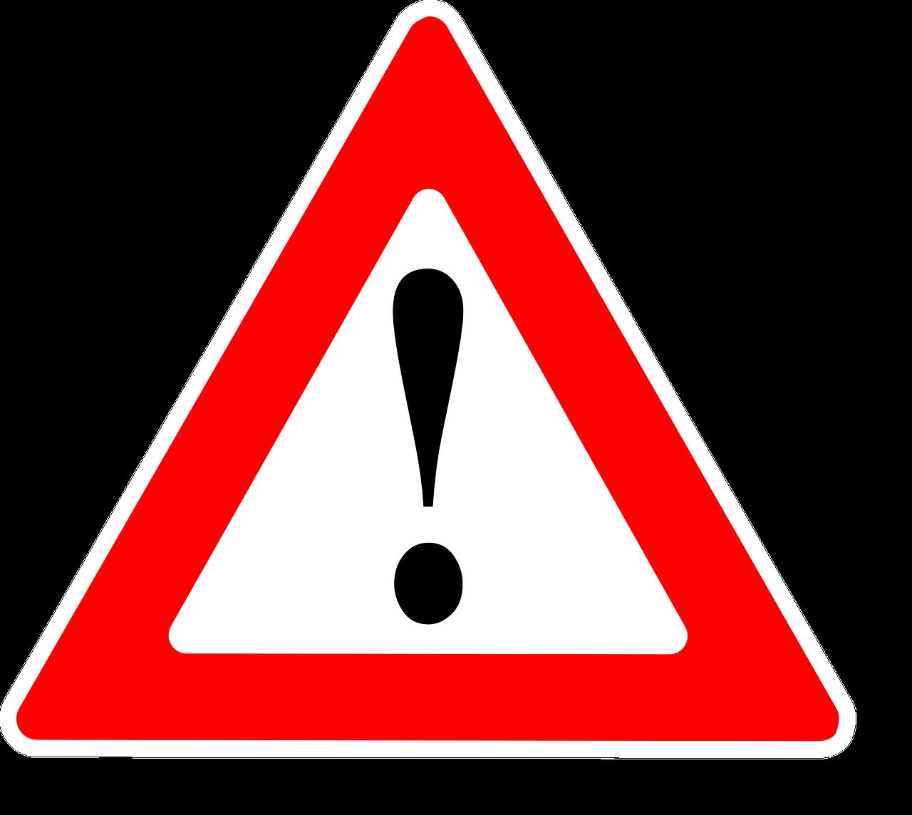 A warning sign.